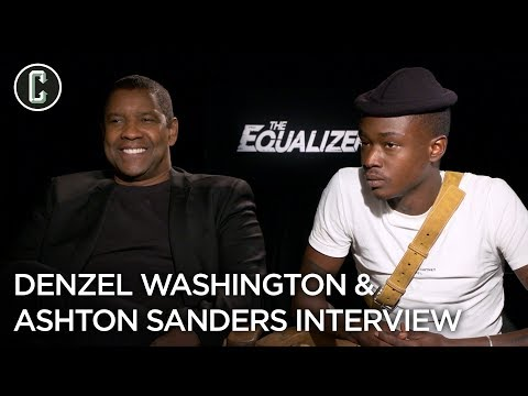Denzel Washington and Ashton Sanders on The Equalizer 2