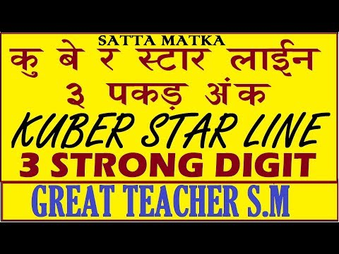 Kalyan and Other Bazaar Guessing Show By Great Teacher S.M(43) from YouTube · Duration:  10 minutes 27 seconds