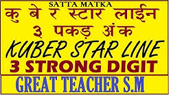 Satta Matka Kuber Star Line 3 Strong Digit Ank Pakad Line By Great Teacher S.M