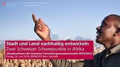 Jahreskonferenz der Schweizer Entwicklungszusammenarbeit 2018