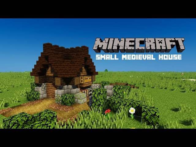 Minecraft Lets Build | Small Medieval House with Courtyard