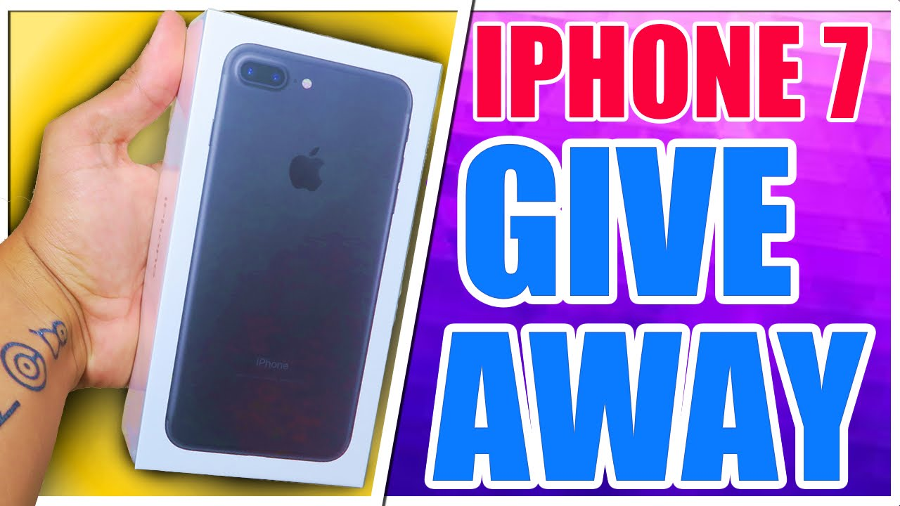 Giveaway iPhone 7 256gb