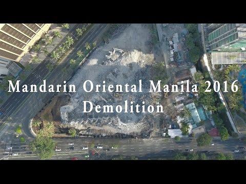 Mandarin Oriental Manila Demolition Video 2016 Drone Makati Philippines Drone