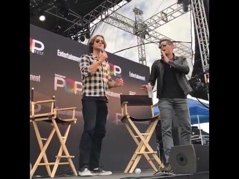 Jared Padalecki and Jensen Ackles at #EWPopFest @ew's Facebook live