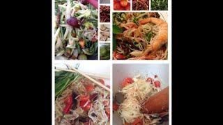 How To Make Bok Lahong (green Papaya Salad). Cooking Cambodian/khmer Food With Elissa.