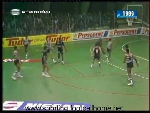 Basquetebol :: Sporting - 102 x Ovarense - 97 de 1988/1989 - 2 Fase