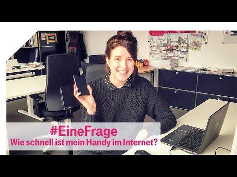Social Media Post: Telekom-Netzblog: Wie schnell ist mein Handy im Internet? #EineFrage