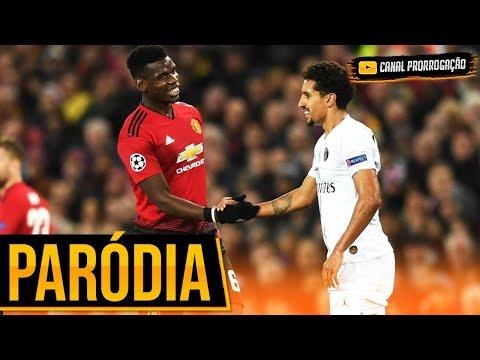 ♫ MANCHESTER UNITED vs PSG | Paródia Champions League ‹ CANAL PRORROGAÇÃO ›