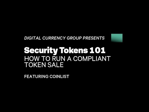 DCG Webinar: Security Tokens 101 featuring Andy Bromberg of Coinlist