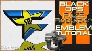Faze Rockst4r Logo : Call Of Duty Black Ops 2 Emblem Tutorial