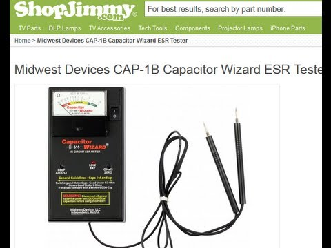 CAP1B ESR Capacitor Wizard Capacitance ESR Meter//Tester Test Caps In Circuit