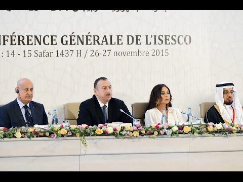 İlham Əliyev və Mehriban Əliyeva ISESCO Baş Konfransının XII sessiyasının açılışında iştirak ediblər