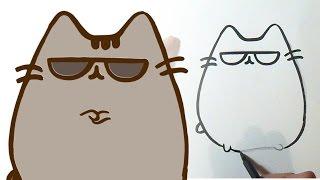 Cara menggambar anak kucing kawaii