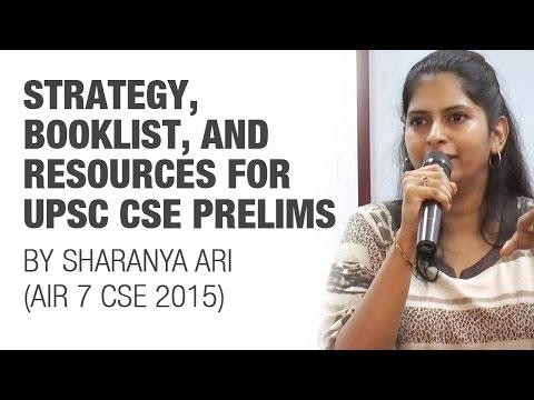 AIR 7 IAS 2015 Sharanya Ari's Strategy, Booklist, and Resources for UPSC CSE Preparation