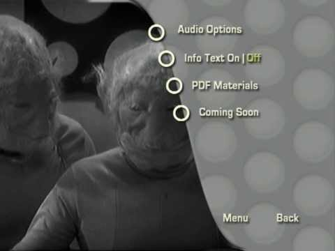 DOCTOR WHO - THE SENSORITES - DVD MENU