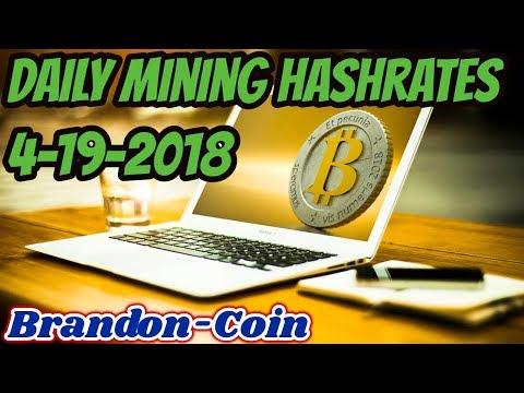 Daily Mining Hashrates 4-19-2018
