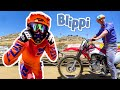 Blippi Explores a Motorcycle   Dirt Bikes for Children   Blippi Visits   Educational Videos For Kids