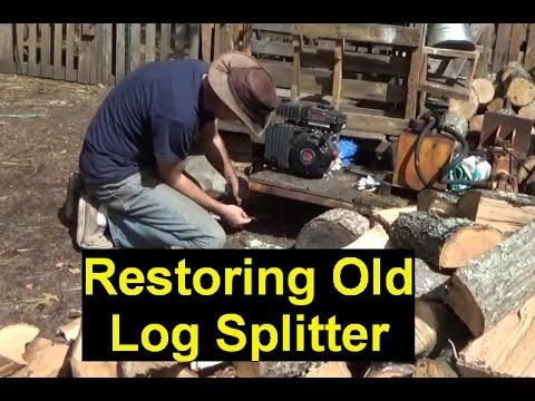 Repaired Log Splitter & Splitting Wood For The Homestead