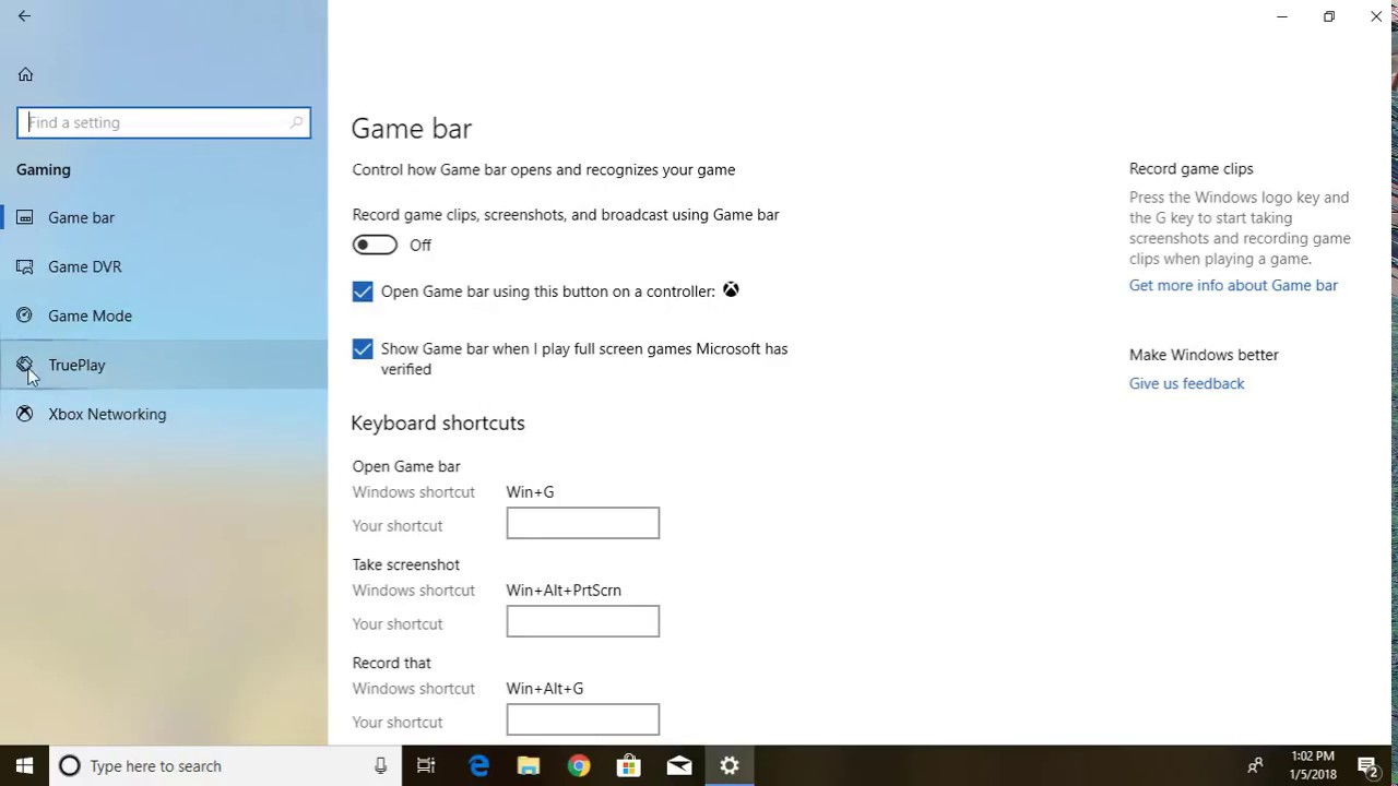 How to Turn On / Turn Off TruePlay for Gaming in Windows 10 - YouTube
