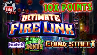 🔴 ULTIMATE FIRE LINK CHINA STREET ★ LIVE CHALLENGE ★ Live from the SLOT MUSEUM
