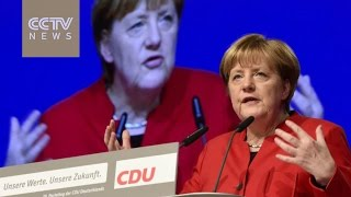 Merkel addresses her conservative party delegates, calls for partial burka ban in Germany