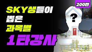 과목별 1타 강사 (feat. 인강) | 입시덕후