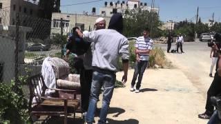 Radical Israeli leftists & European anarchists against Jews at Beit Hanina