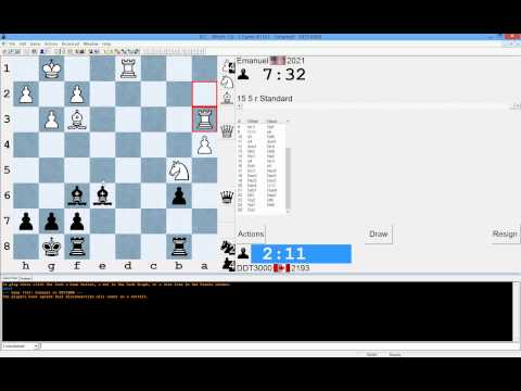 Loss of a Chess Game - Classic Trojan Horse in the Endgame