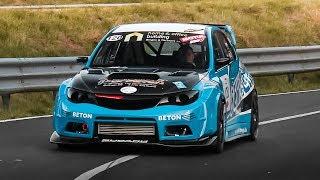 Subaru Impreza WRX STi Hatchback on Hillclimb w/ Lovely Turbo Flutter Noise!