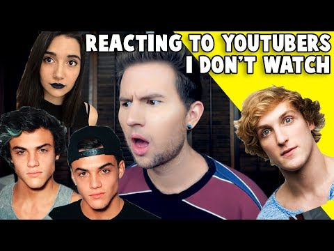 REACTING TO YOUTUBERS I DON'T WATCH 2