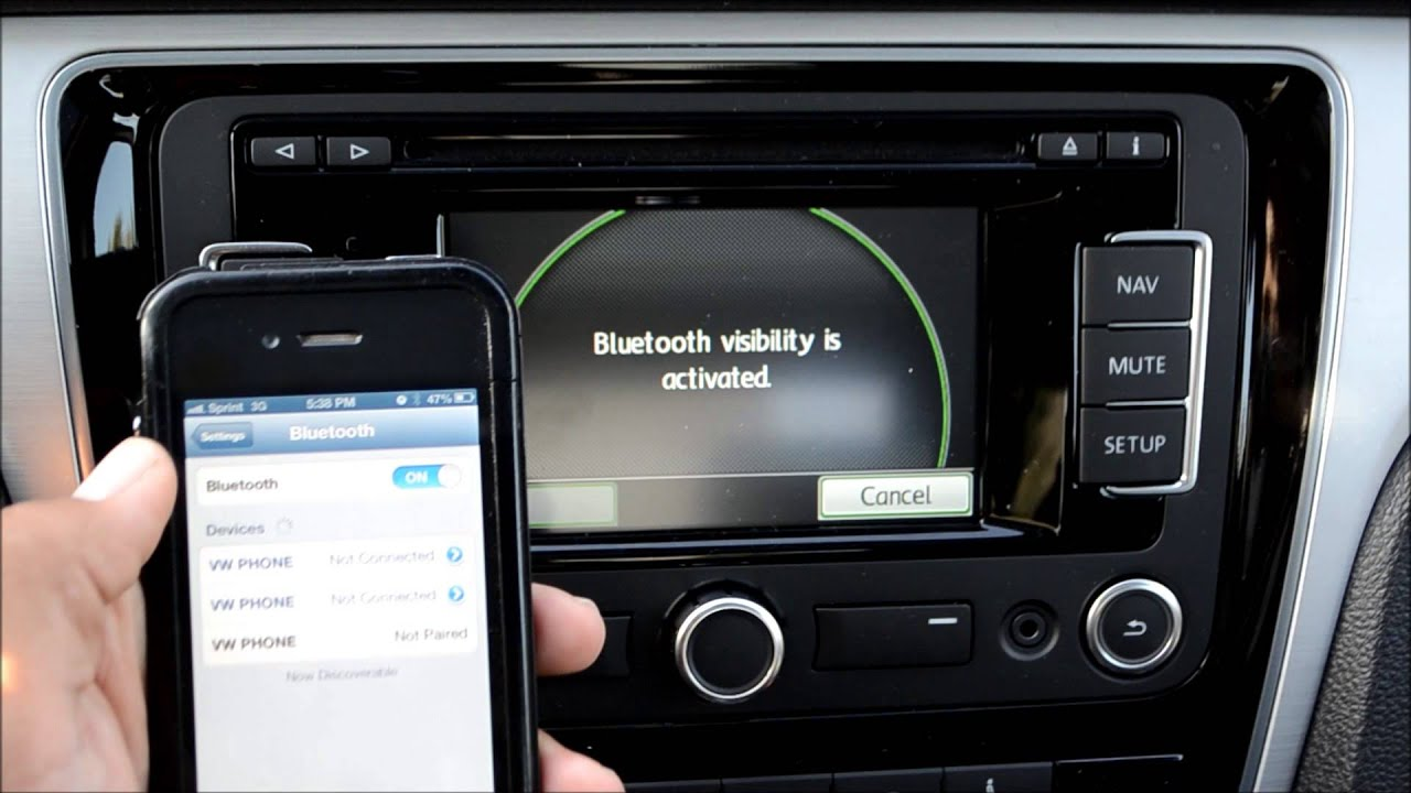 How To: Pair Bluetooth with the VW RNS315 Navigation Stereo