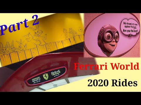 Ferrari World ABUDHABI Rides and attractions 2020 Part 2