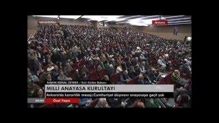 Namık Kemal ZEYBEK'in Mili Anayasa Kurultayı Konuşması