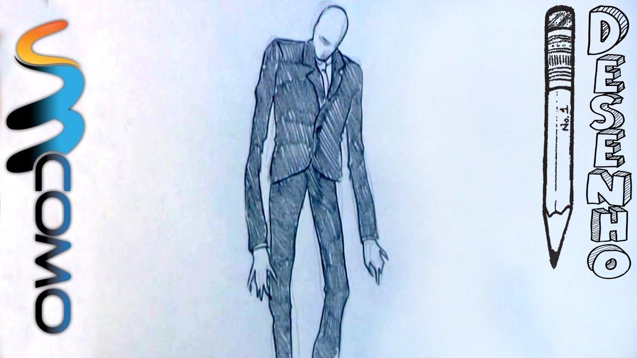 desenhando o slender man passo a passo youtube