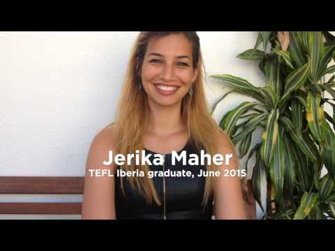 TEFL Iberia graduate Jerika talking about her experience of the course
