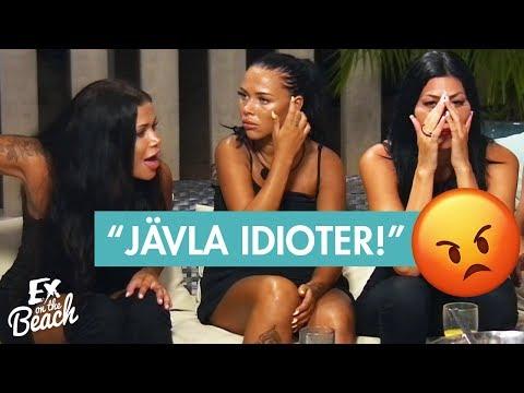 Ex on the Beach Sverige | Kaos efter Diana, Cassie och Sara fått välja en person att skicka hem