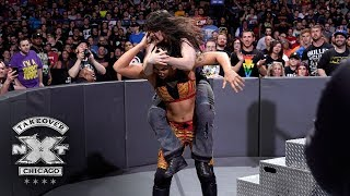 Shayna Baszler viciously slams Nikki Cross onto the steel entrance ramp: NXT TakeOver: Chicago II