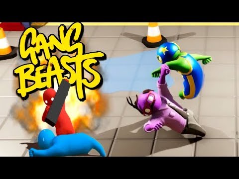 GANG BEASTS ONLINE - You Just Got Knocked Out!!! [Melee]