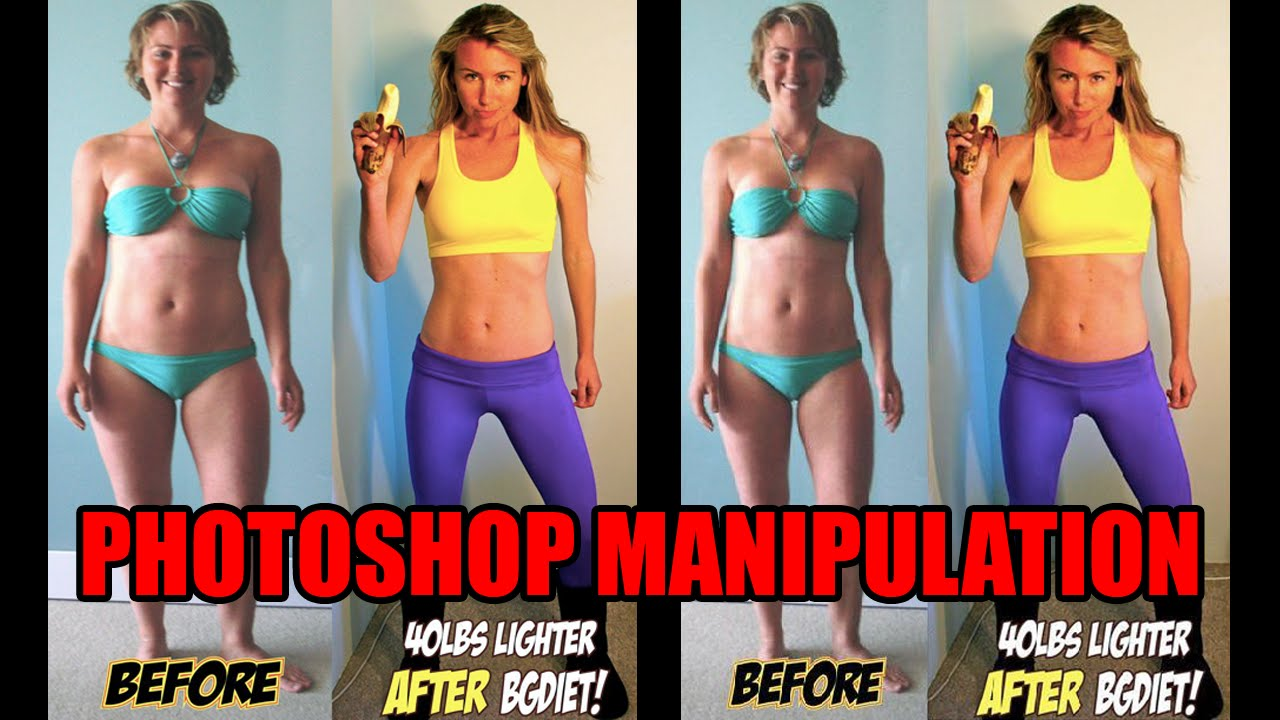 before after weight loss photoshop