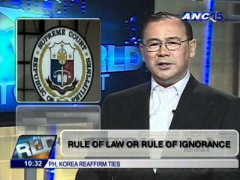 ANC Teditorial 11/21/2011 - Rule of Law or Rule of Ignorance