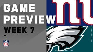 New York Giants vs. Philadelphia Eagles   NFL Week 7 Game Preview