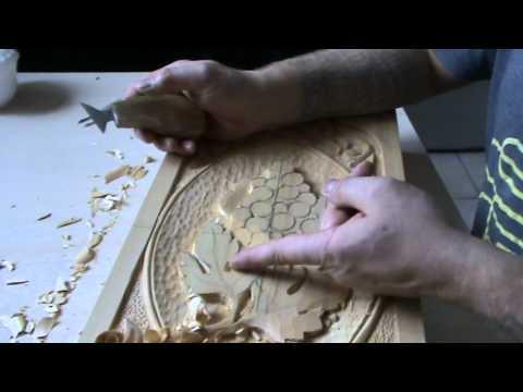видео: Как сделать нарды Резьба винограда