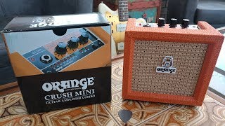 UNBOXING Orange Crush Mini Amp Review Demo