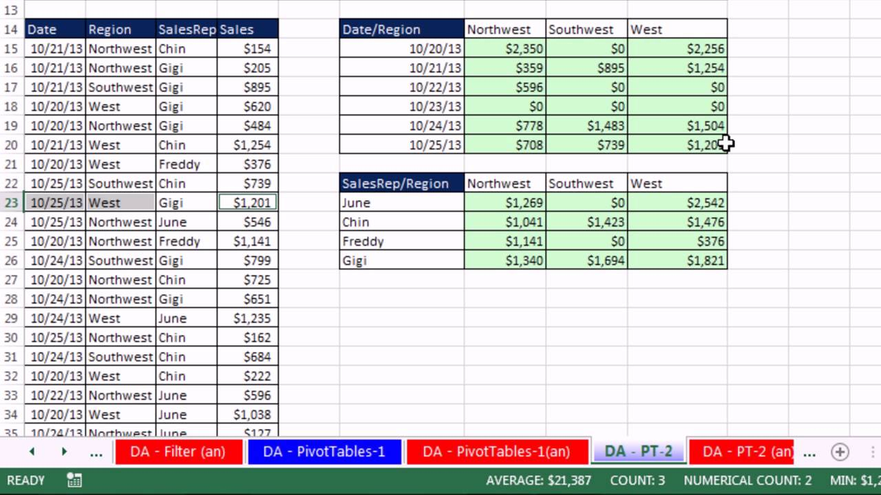 Excel 2013 Statistical Analysis #01: Using Excel Efficiently For ...