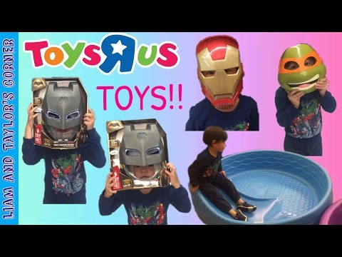 TOYS R US Toy Hunt Avengers Black Panther TNMT Star Wars Batman | Liam And Taylor's Corner