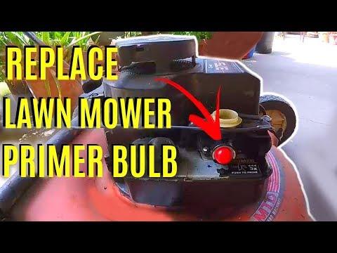 How To Replace Briggs & Stratton Lawnmower Primer Bulb -Jonny DIY