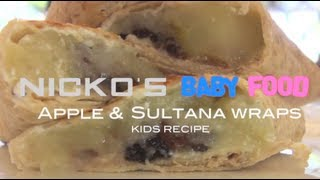 APPLE & SULTANA WRAPS - Kids Recipe Thumbnail