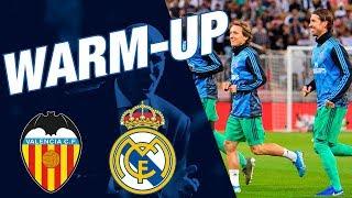 Real Madrid warm-up ahead of Valencia