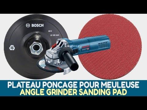 Comment Monter et Utiliser un Plateau de Ponçage sur une Meuleuse Angulaire (Bosch)