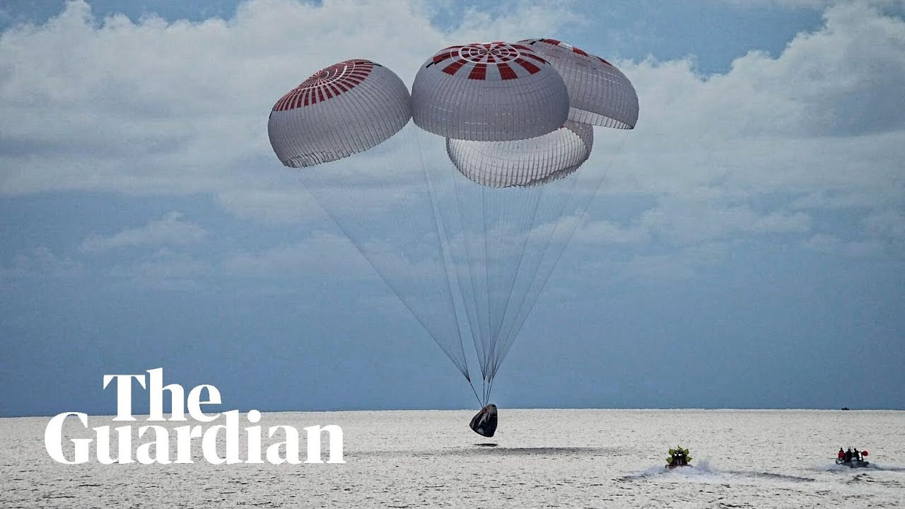 Elon Musk welcomes SpaceX crew home with $50m donation to charity | SpaceX  | The Guardian